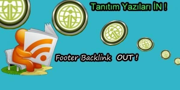 Footer ve Kolay Backlink Yöntemleri Devri Kapandı