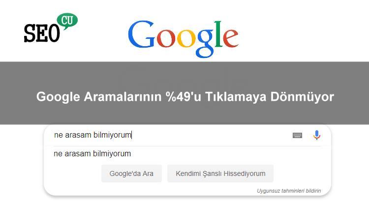 Google Aramalarının Çoğunluğu Tıklamaya Dönüşmüyor
