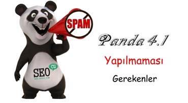 Panda 4.1 ile Yapılmaması Gerekenler